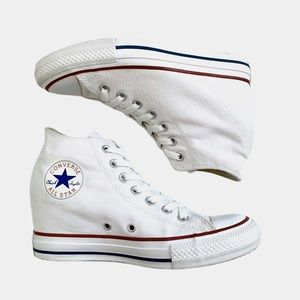 White Converse Chuck Taylor All Star Lux Wedge